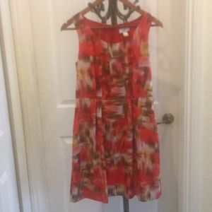 Ann Taylor Abstract print dress with pockets!